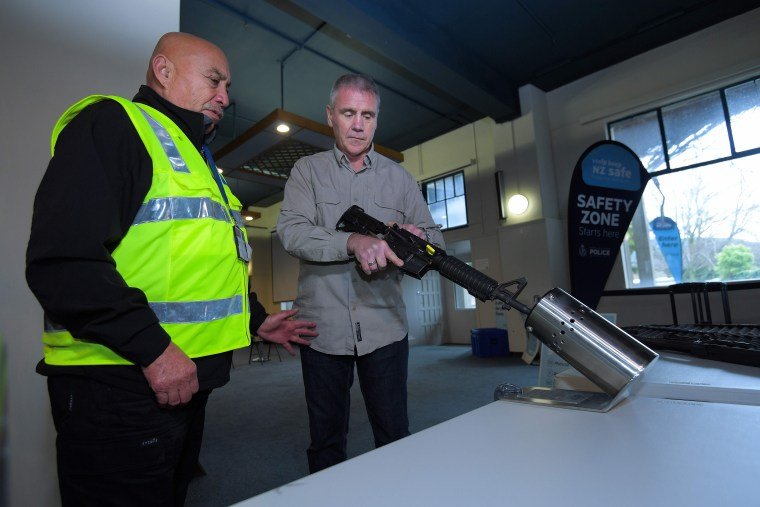 Image: FILES-NZEALAND-ATTACKS-MOSQUE-WEAPONS