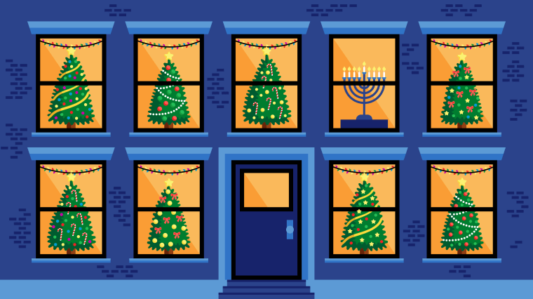 Part of the experience of celebrating Hanukkah in America is belonging to a minority culture among a majority.