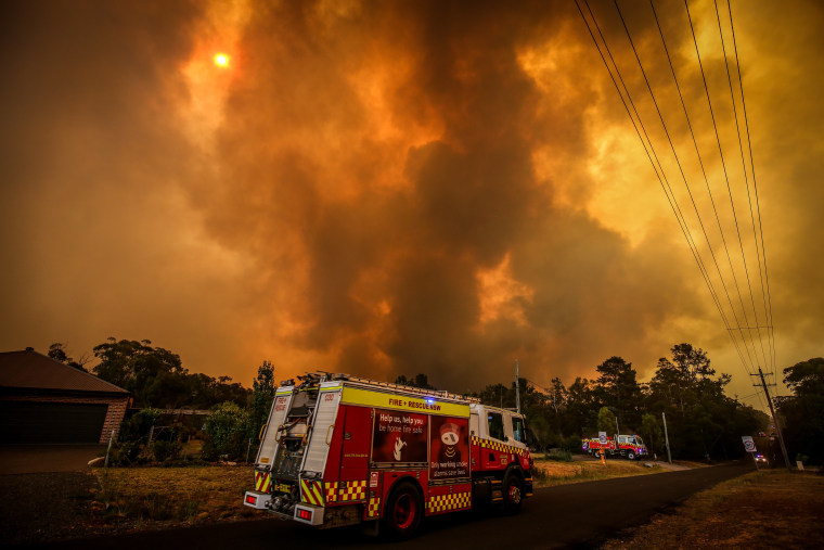 Image: Firefighters Continue To Battle Bushfires As Catastrophic Fire Danger Warning Is Issued In NSW