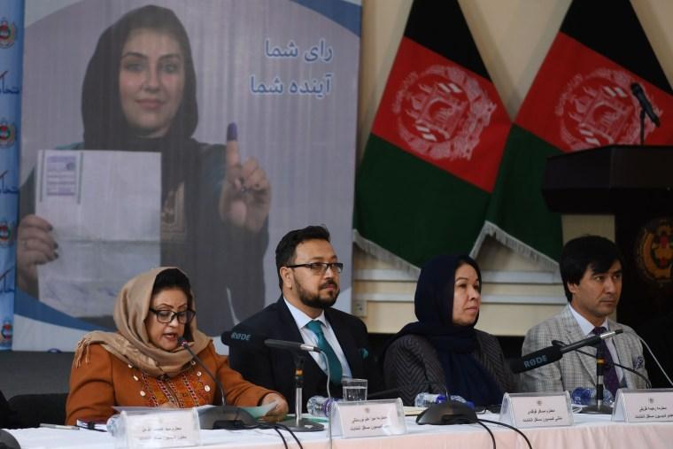 Image: AFGHANISTAN-ELECTIONS-POLITICS