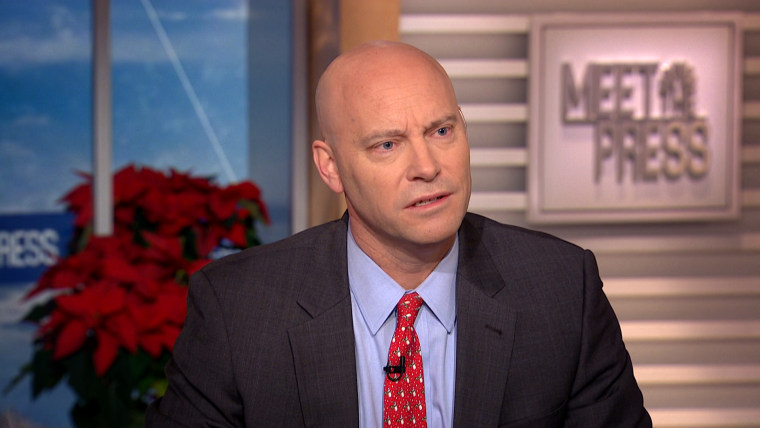 """Image: Marc Short, the chief of staff to the Vice President, appears on """"Meet The Press."""""""