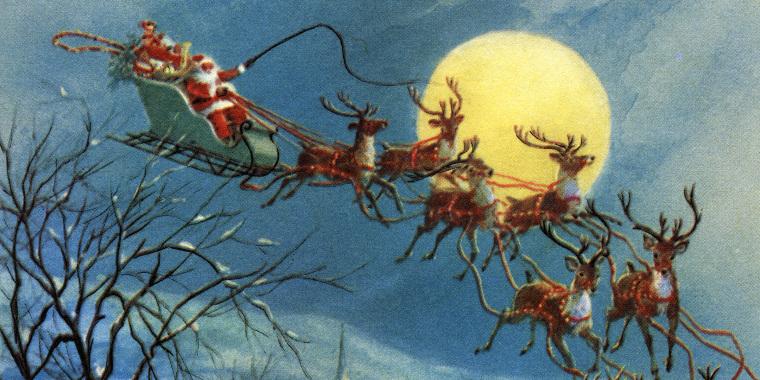 Santa Claus And His Sleigh