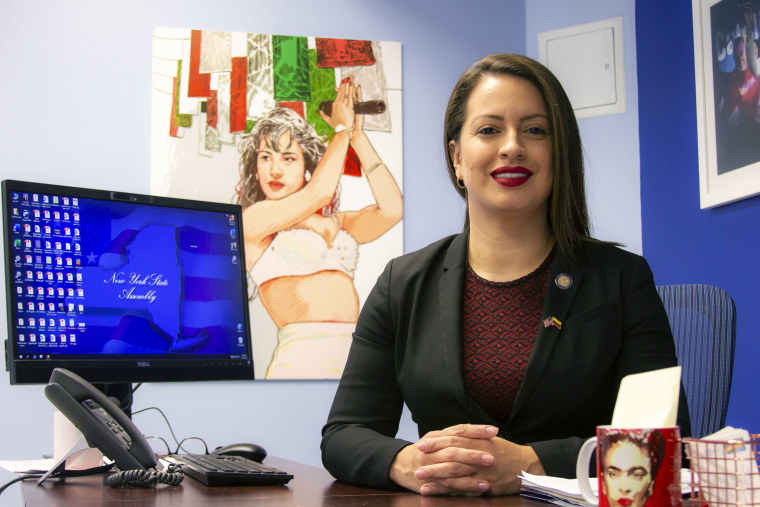 New York state Assemblywoman Catalina Cruz, in her office in Corona, Queens.