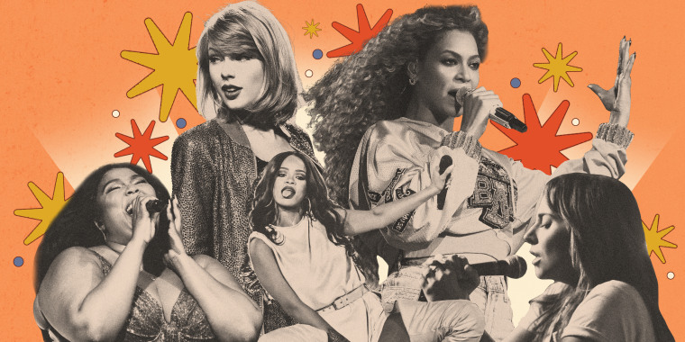 Image: Pop idols reached new levels of dominance in the 2010s, as women like Taylor Swift, Beyonce, Lizzo, Rihanna and Lady Gaga achieving legendary status through transformations in their image and music.