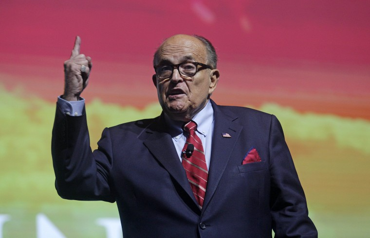 Image: Rudy Giuliani addresses the crowd at the Turning Point USA Student Action Summit