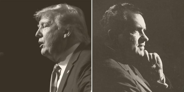 Donald Trump and Richard Nixon.