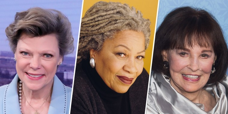 Image: Cokie Roberts, Toni Morrison. Gloria Vanderbilt