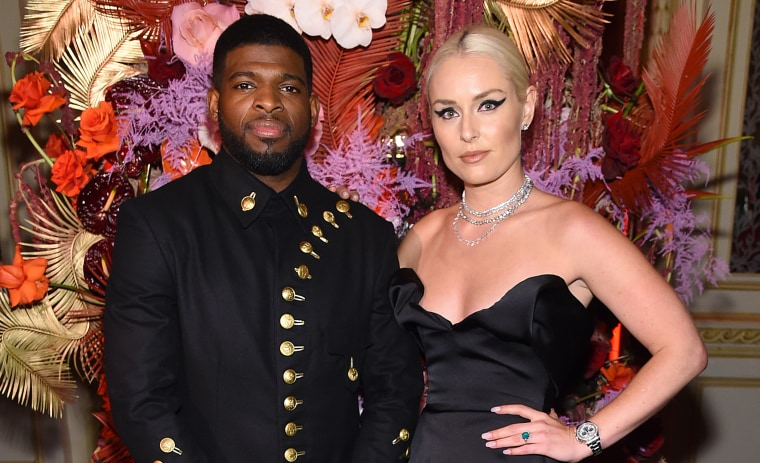 Image: PK Subban and Lindsey Vonn
