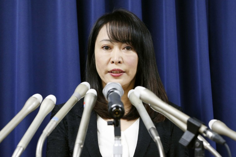 Japanese Justice Minister Masako Mori speaks during a news conference in Tokyo on Dec. 26, 2019, about the execution of death-row inmate Wei Wei, a 40-year-old Chinese man convicted of killing four people in 2003.
