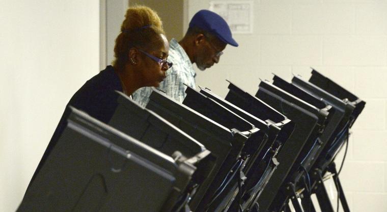 Image: North Carolina voting