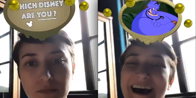 """She had the absolute sweetest reaction to getting assigned the Genie from Disney's """"Aladdin!"""""""