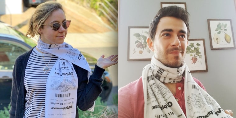 Two Etsy sellers are capitalizing off of the ridiculously long paper trail, selling scarves printed with the classic list of coupons and CVS incentives.