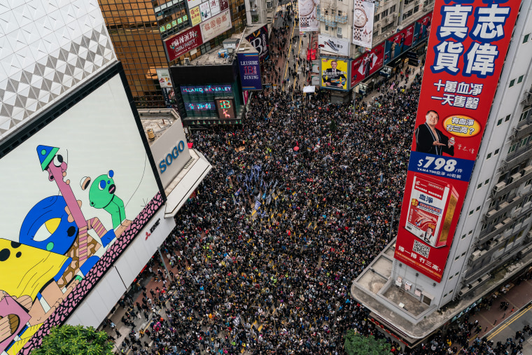 Image: Hong Kong Marks New Year With Anti-Government Protests
