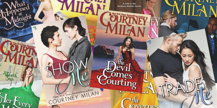 Image: The Romance Writers of America sanctioned Courtney Milan, a prominent Chinese-American romance writer, for criticizing the novel of a white writer, Kathryn Lynn Davis.