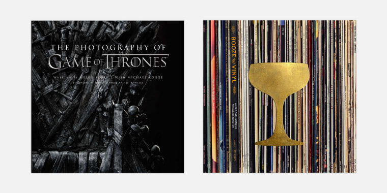 """The Photography of Game of Thrones"" by Helen Sloan; ""Booze & Vinyl: A Spirited Guide to Music and Mixed Drinks"" by André Darlington"