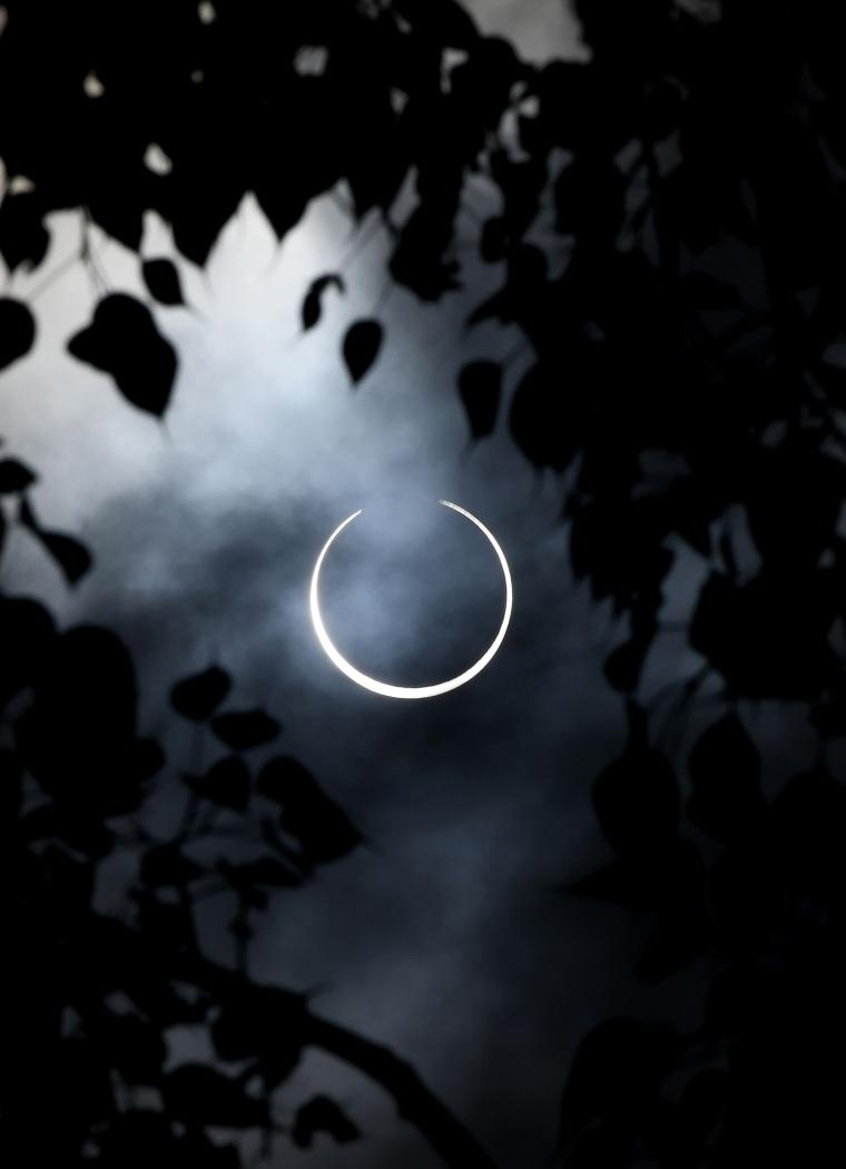 Image: INDIA-ASTRONOMY-SOLAR-ECLIPSE