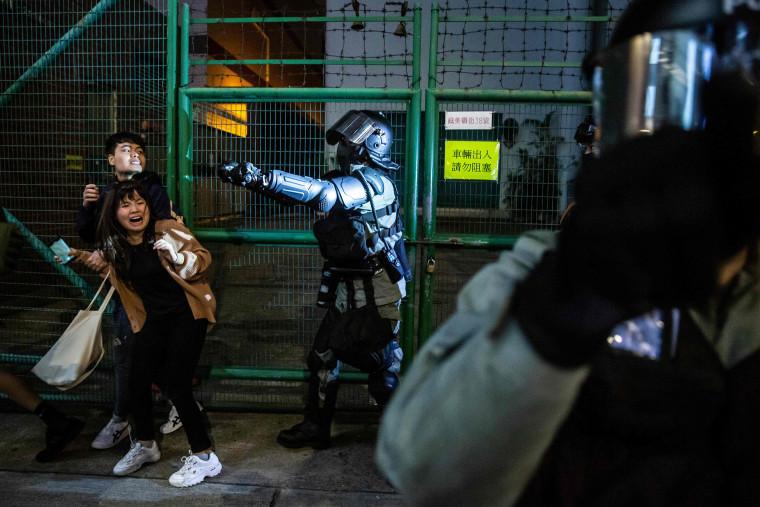 Image: TOPSHOT-HONG KONG-CHINA-UNREST-NEW YEAR