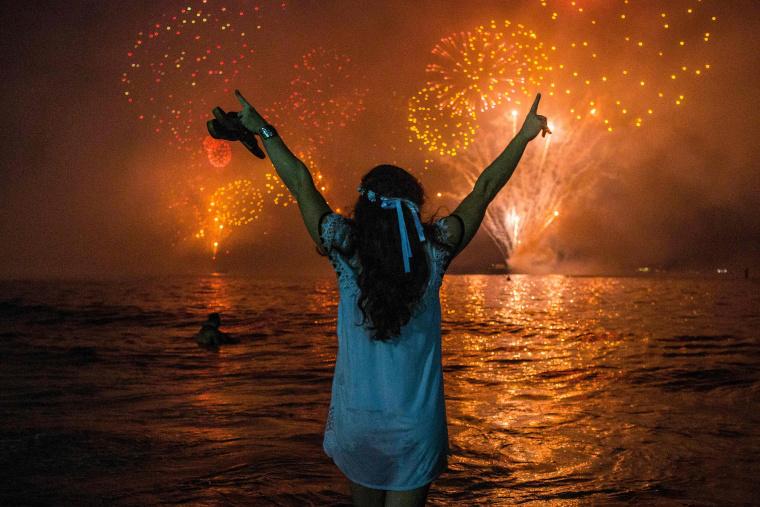Image: BRAZIL-NEW YEAR'S EVE-BEACH