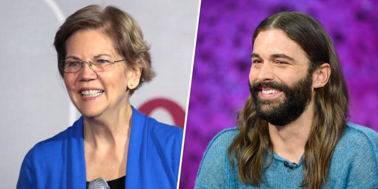 Image: Elizabeth Warren, Jonathan Van Ness
