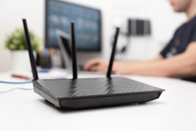 Image: Modern dual band wireless router