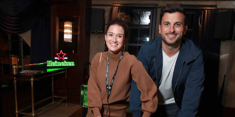 Jade Roper Tolbert and Tanner Tolbert at The Roosevelt Hotel on Nov.9, 2019 in Hollywood, Calif.