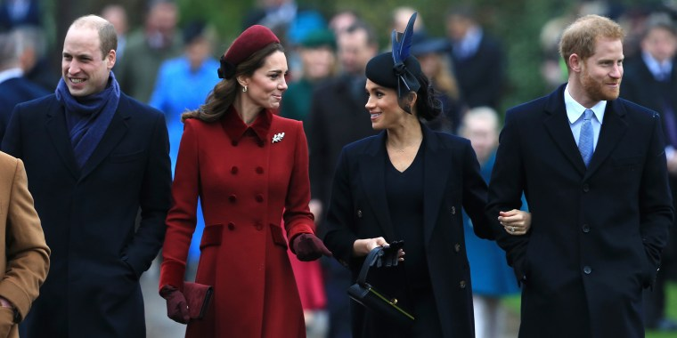Image: The Royal Family Attend Church On Christmas Day