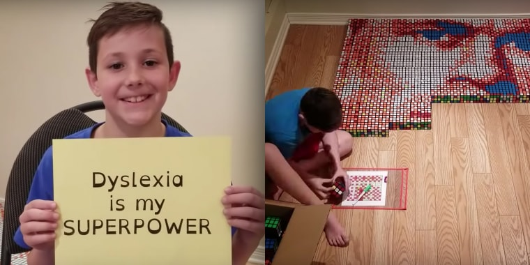 "Nine-year-old Benjamin Russo shared a video on YouTube, showing that dyslexia is his ""superpower."""