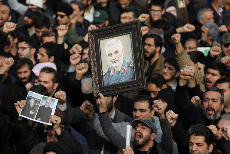 Protest in Iran after killing of Iranian Revolutionary Guards' Quds Force commander Qasem Soleimani
