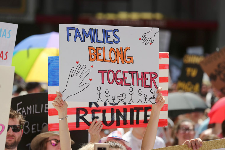 Image: Protest family separation