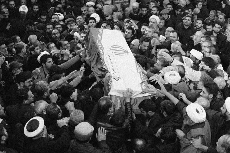 Image: Funeral procession for Major-General Soleimani and commander Abu Mahdi al-Muhandis in Tehran