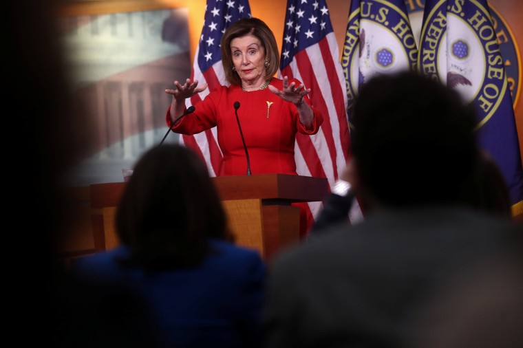Image: U.S. House Speaker Pelosi holds her weekly news conference at the U.S. Capitol in Washington