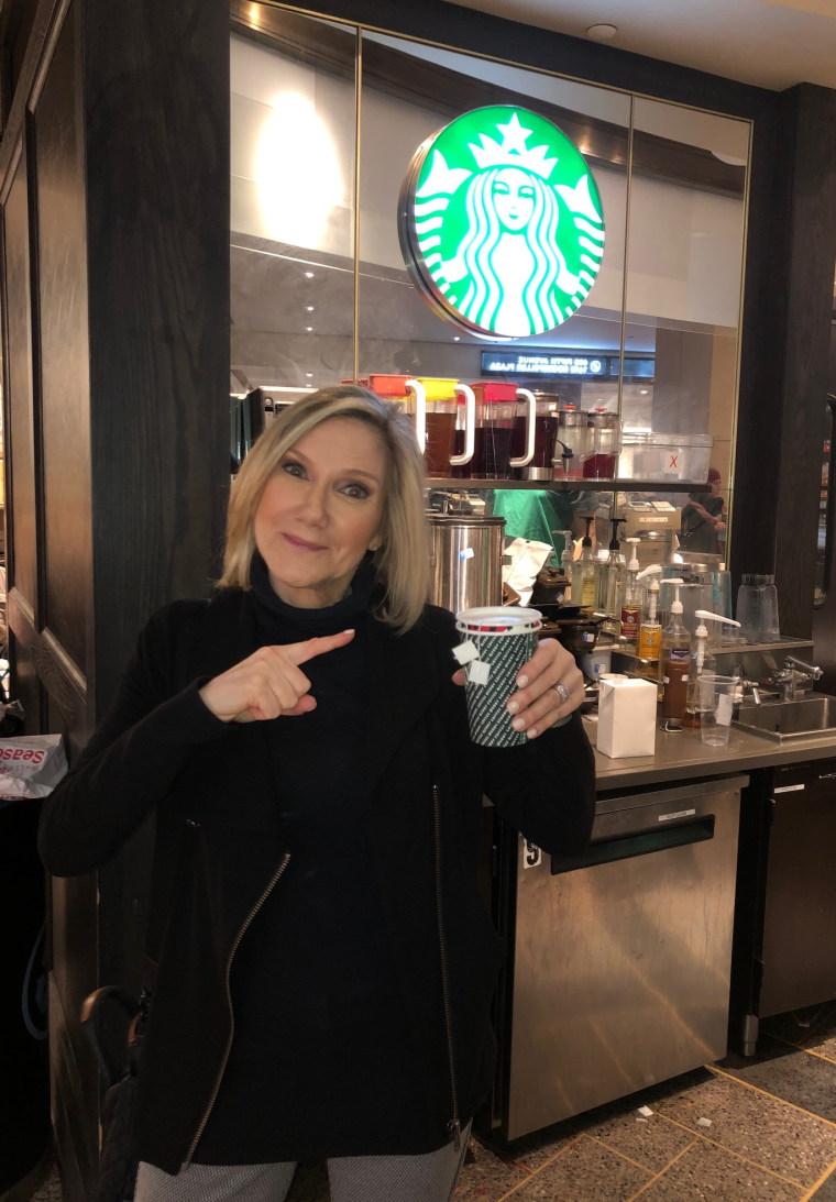 Dr. Madelyn Fernstrom, NBC News' health editor with Starbucks' Medicine Ball drink.