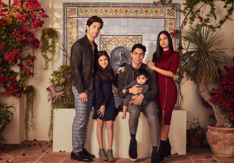 """Party of Five"" stars Brandon Larracuente as Emilio Acosta, Elle Paris Legaspi as Valentina Acosta, Niko Guardado as Beto Acosta and Emily Tosta as Lucia Acosta."