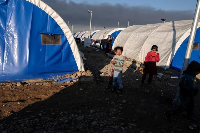 Image: Qayyarah Jadah Camp in Iraq on Jan. 3, 2017.