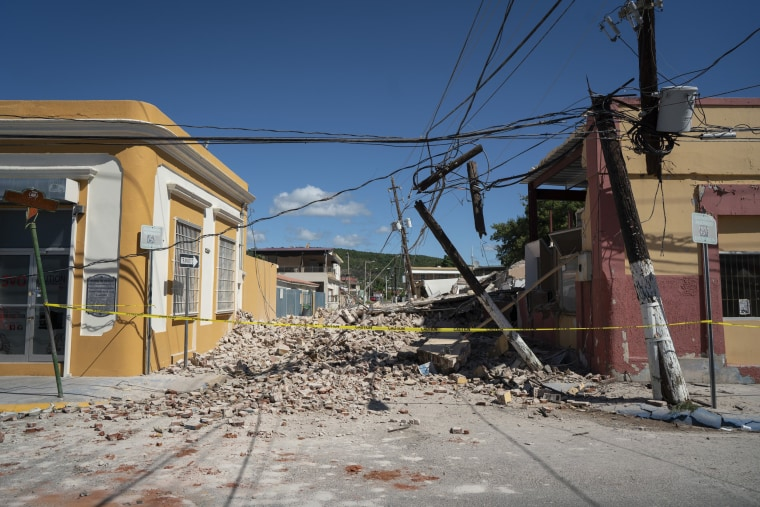Restoring an earthquake-hit power plant in Puerto Rico could take a year