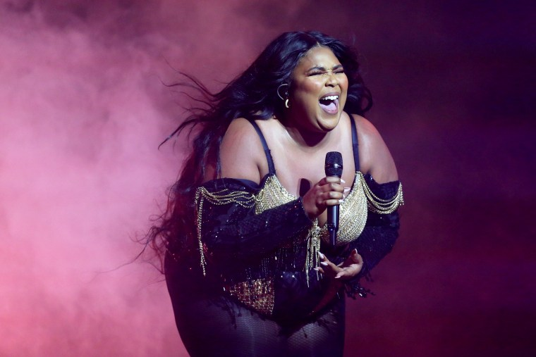Image: Lizzo performs at the Sydney Opera House on Jan. 6, 2020.