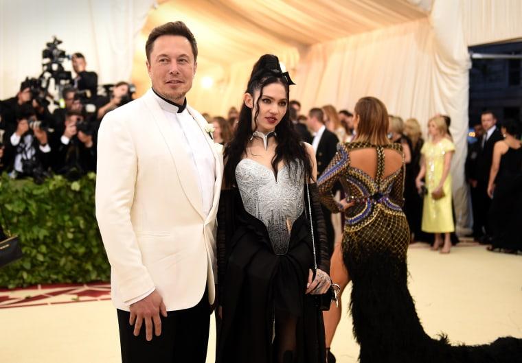 Image: Elon Musk and Grimes