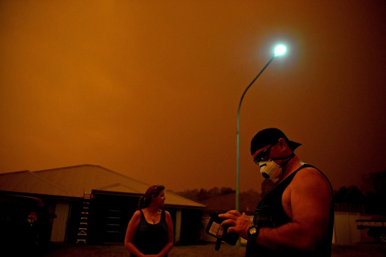 Image: Bushfires in Nowra, New South Wales
