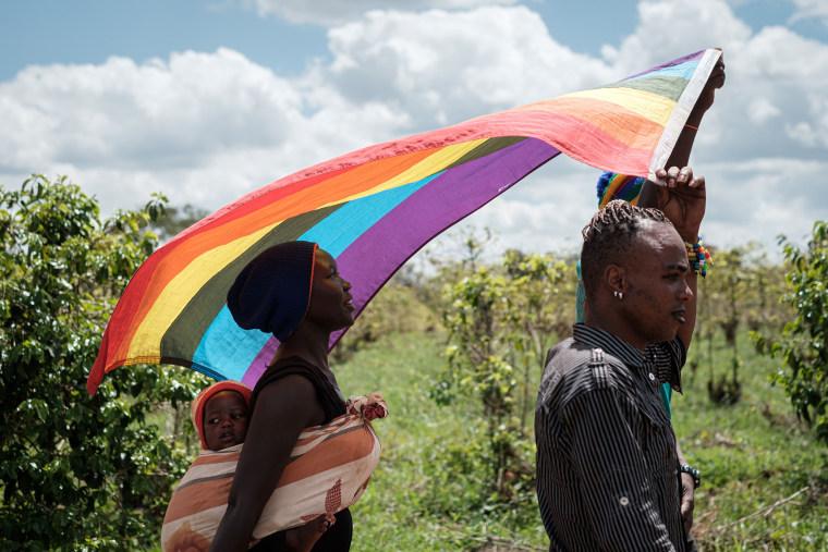 Image: LGBT refugees protest, TOPSHOT-KENYA-REFUGEE-LGBT