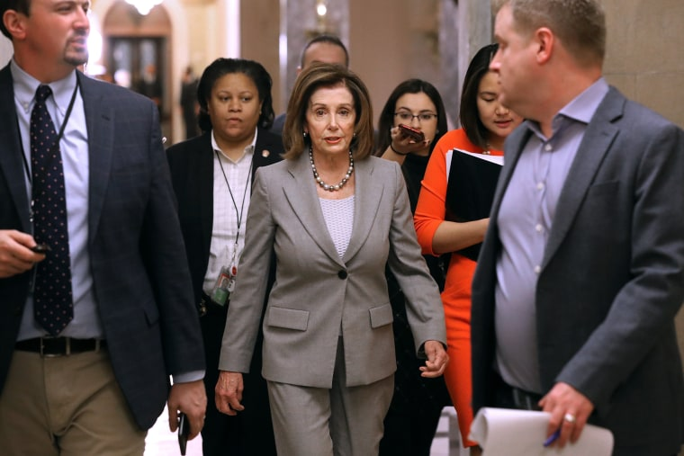 Image: Nancy Pelosi And House Members Hold Meetings On Capitol Hill