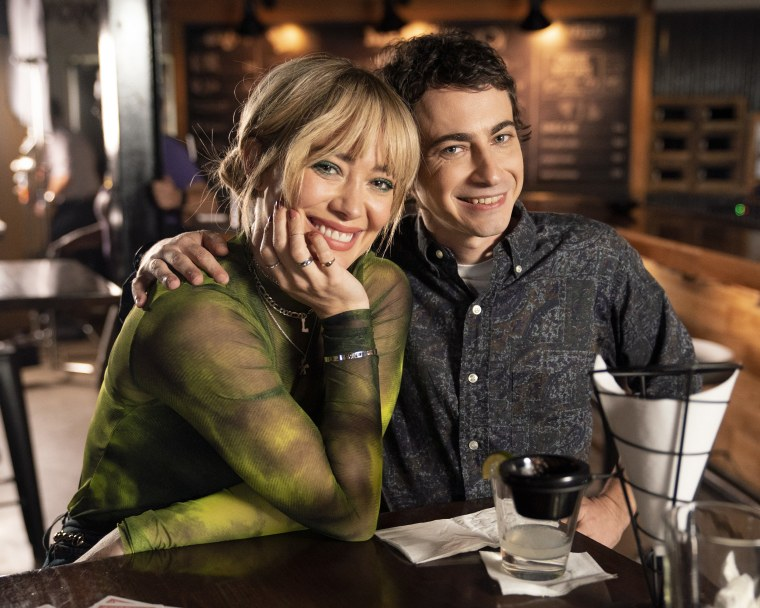 "Hilary Duff and Adam Lamberg in the episode ""Bangs"" apart of the Lizzie McGuire reboot on Disney."