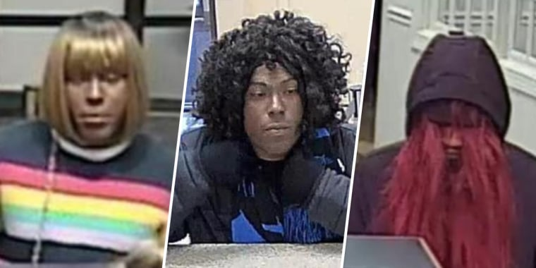 The Bad Wig Bandit is believed to have robbed three banks in three weeks in North Carolina.