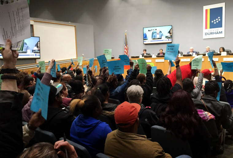 KImage: More than 150 residents and community members attended a Durham City Council meeting demanding answers to the carbon monoxide crisis on Jan. 6, 2020.