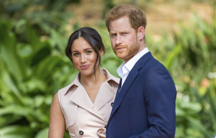 Prince Harry and Meghan, Duke and Duchess of Sussex during a Creative Industries and Business Reception in Johannesburg, South-Africa on Oct. 2, 2019.