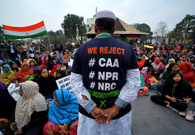 Image: A protester wears an anti-CAB t-shirt