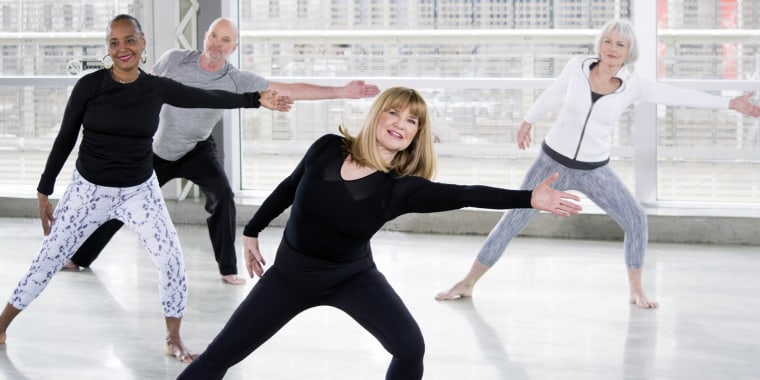 Miranda Esmonde-White, center, leads a workout that she says engages all of the body's 650 muscles and 360 joints.