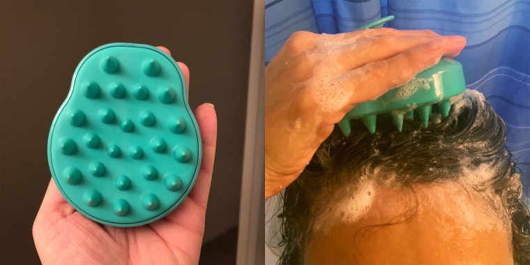 Over 3,000 people swear by this shampoo brush for healthier hair