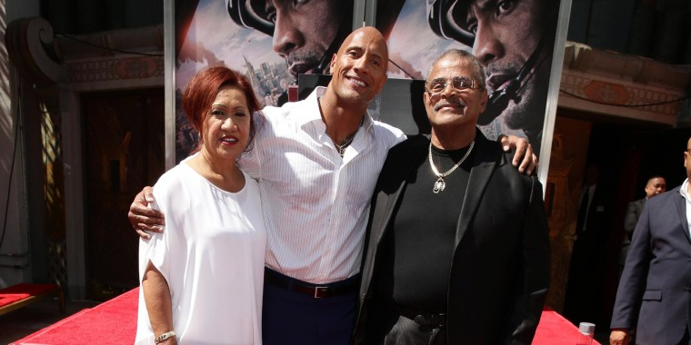 Image: Ata Johnson, Dwayne Johnson, Rocky Johnson