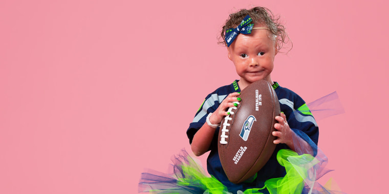 Harper's favorite team is the Seattle Seahawks and Russell Wilson even visited her when she was still in the NICU.