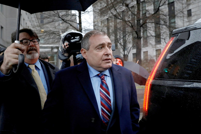 Image: FILE PHOTO: Ukrainian-American businessman Lev Parnas, an associate of President Donald Trump's personal lawyer Rudy Giuliani, exits after a bail hearing at the Manhattan Federal Court in New York